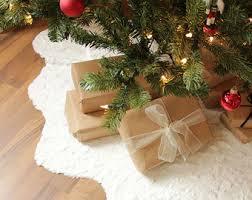 brown christmas tree skirt tree skirts etsy