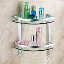 Glass Bathroom Shelves Bathroom Shelves Aluminum Shelf Toughened Glass Bathroom Towel