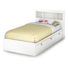 Bookcase With Drawers White Sparkling Bookcase Storage Platform Bed Hayneedle