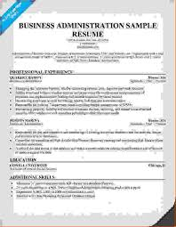 Sample Business Administration Resume by 8 Business Administration Resumereport Template Document Report
