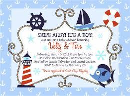 baby shower invitations best nautical themed baby shower