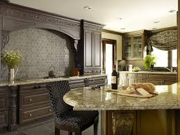 Kitchen Tile Backsplashes Stunning Brick Backsplash With Glass Range Hoos And Wood