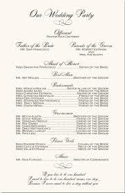 wedding program ceremony wedding ceremony order program wedding program exles wedding