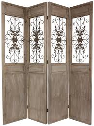 astounding classic 4 panel rustic wooden room divider screen