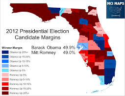2012 Presidential Election Map by The Disappearing Swing Counties Of Florida U2013 Mci Maps