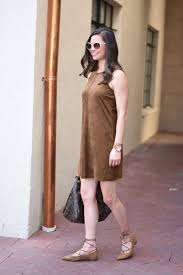 suede shift dress bishop u0026holland dallas fashion blog