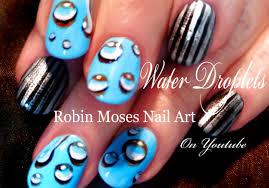 easy raindrop nails diy water drops nail art design tutorial