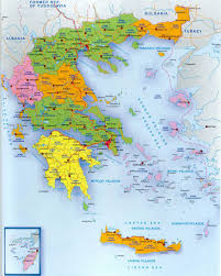 greece map political political and administrative map of greece greece europe