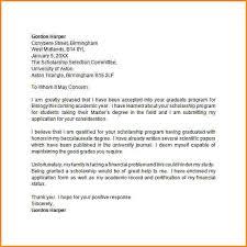 cover letter sample scholarship outright shaking ml