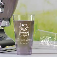 clear plastic cups for wedding clear plastic disposable cups 16 oz personalized my wedding