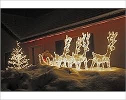 Christmas Reindeer And Sleigh Decorations by Cheap Christmas Reindeer Outdoor Decorations Find Christmas