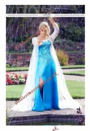 Elsa Costume Disney Princess Frozen Queen Elsa Costume Size 6 8 10 12 14