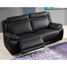 canap cuir relax 3 places canapé 3 places avec relax électriques 190 cm angelot l 190 x p 80