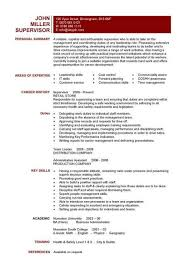 leadership skills resume exles a one page supervisors resume exle that clearly lists the team