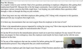 Green Card Resume Leaving An Employer After Approval Of Green Card Youtube