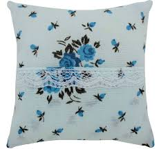 tooth fairy pillow light blue rose print fabric white lace trim