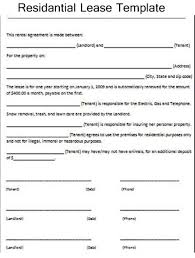 residential lease agreement template excel about