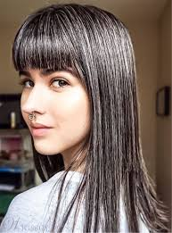 human hair in salt and pepper smooth straight full bang salt and pepper hair human hair capless