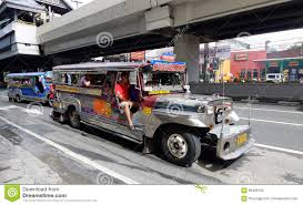 jeep philippine manila jeepney city scape stock illustration image 49020293