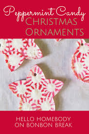 diy peppermint ornaments