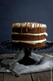 banana chocolate chunk cake with dulce de leche cream cheese
