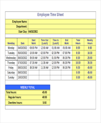 Timesheet Template Excel 24 Timesheet Templates Free Sle Exle Format Free