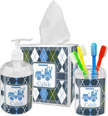 Blue And White Bathroom Accessories bathroom exotic 3 piece blue bathroom accessories in mosaic motif