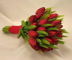 tulip bouquets tulip bridal posy bouquet wedding bouquets silk