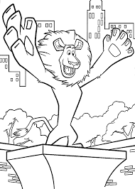 alex madagascar coloring pages for kids printable free coloring