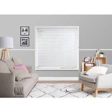 White Wood Blinds Bedroom Windowshade 63 Mm Faux Wood Venetian Blinds