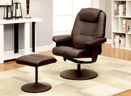 swivel recliner furniture of america harold leatherette 2 piece swivel recliner
