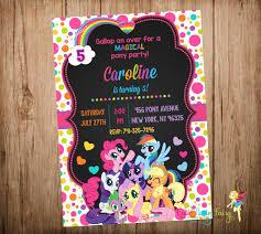 my little pony invitations pony pony party and birthdays