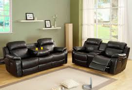Bonded Leather Loveseat 2 Pc Marille Collection
