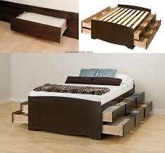 King Size Bed With Storage Ikea Bed Frames Espresso King Storage Bed Twin Platform Bed Storage