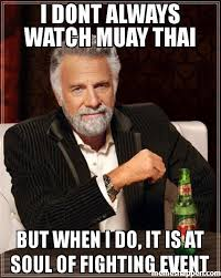 Muay Thai Memes - i dont always watch muay thai but when i do it is at soul of