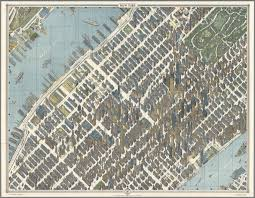 New York State Map With Cities by New York City Picture Map A 3 D Map Of Mid Town Manhattan
