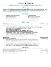 Military Resume Examples For Civilian by Ravishing The Stylish Police Officer Duties Resume And Format Web