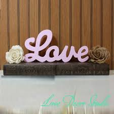 home decor love pink love sign diy wedding decoration wall hanging wooden letters