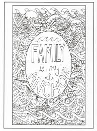 timeless creations creative quotes coloring page family is my