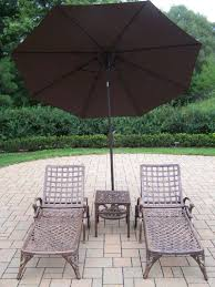 patio umbrella stand side table chaise lounge set 2 chaises 18
