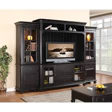 Hutches In Lehi Furniture Rustic Black Varnished Teak Wood Console Hutch