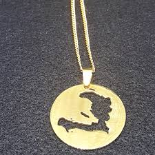 metal circle necklace images Haiti map circle necklace 1st culture jpg