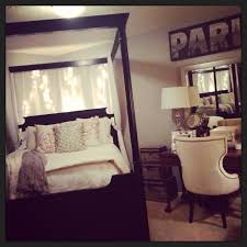diy canopy bed to get this look just pushpin fabric behind your