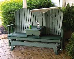 Patio Glider Bench 5 U2032 Adirondack Glider Polywood Dutch Haus Custom Furniture