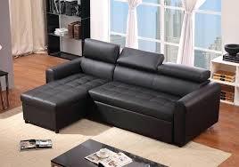canap lit en cuir canape lit cuir noir luciano canapac dangle simili cuir noir