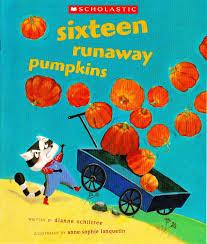 children halloween books sixteen runaway pumpkins dianne ochiltree anne sophie lanquetin