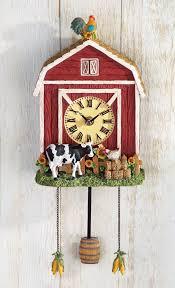 wall clock country barn farm house den living room dining room