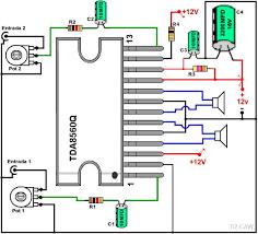 dibujo del amplificador con tda8560q electronica pinterest