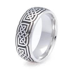 celtic ring dome cobalt celtic ring unique titanium rings more titanium buzz