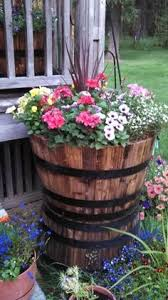 null real wood 26 in dia cedar half whiskey barrel planter home